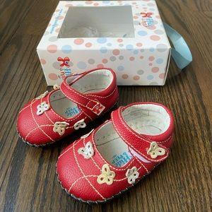 Hide & Peep Leather Baby Walker Shoe Mary Jane
